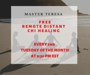 Free Remote Chi Healing – 2nd Tuesday 9.30pm EST